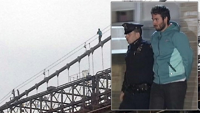Tourist Who Scaled Brooklyn Bridge Must Clean Jail