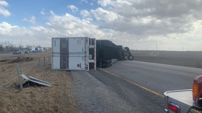 Interstate 65 Re-Opens After Semi-Trailer Toppled by High Winds