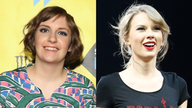 Lena Dunham Celebrates With Taylor Swift at SNL After-Party