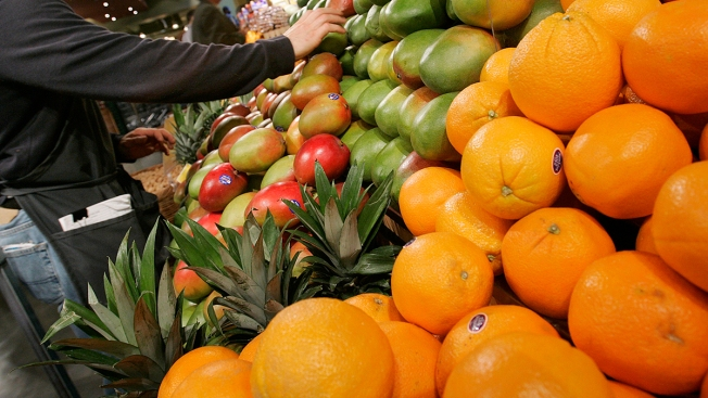 Nonprofit Supporters Aim at World Record Dressed as Fruits and Veggies