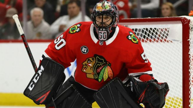 Corey Crawford Suffers Concussion in Loss to Sharks