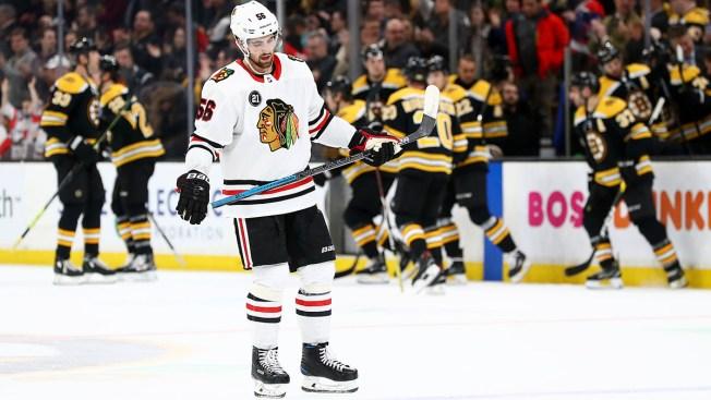 Bruins Snap Blackhawks' 7-Game Winning Streak
