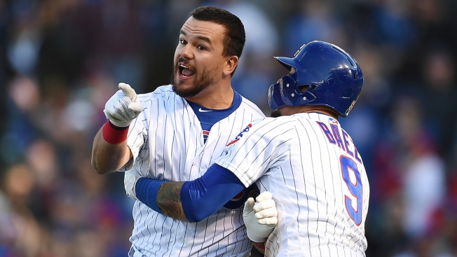 Kyle Schwarber Restrained by Teammates After Controversial Call