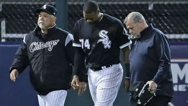 reputable site bdc6a bdb43 White Sox OF Eloy Jimenez Suffers Ankle Injury - NBC Chicago