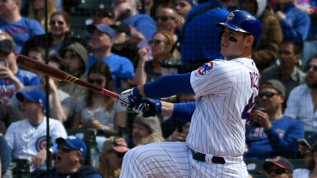 Cubs 1B Anthony Rizzo Out of Lineup With Back Tightness