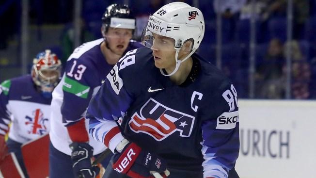 Patrick Kane, Alex DeBrincat Lead Team USA Over Great Britain at World Championships