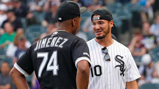 Mitchell Trubisky, Chicago Bears Take in White Sox Game Friday