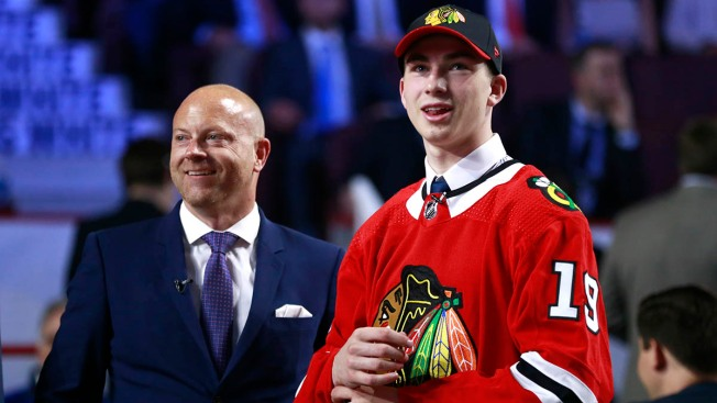 Kirby Dach, Adam Boqvist Leave Blackhawks' Tournament Game With Injuries