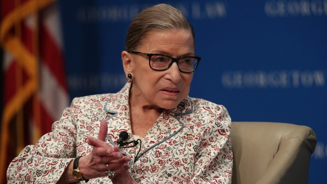 Ruth Bader Ginsburg Back on Bench After Stomach Bug