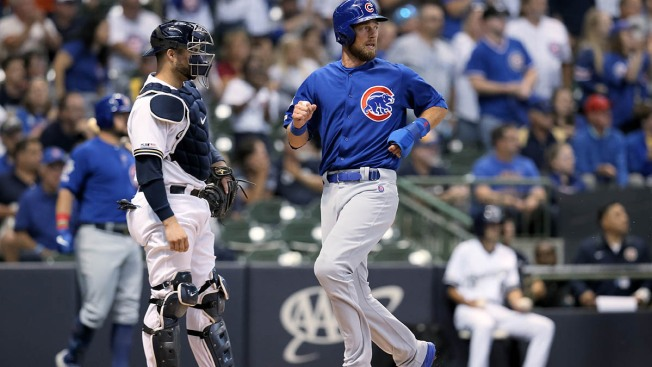Cubs Beat Brewers as Zobrist, Schwarber Have Big Nights