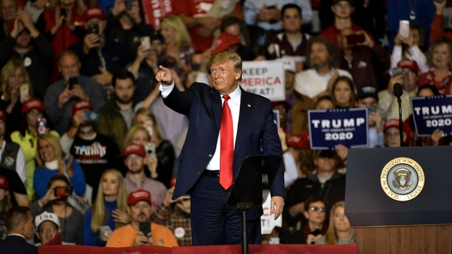 Trump at Rally: Impeachment a Move to 'Nullify' 2016 and 'Undermine' Reelection