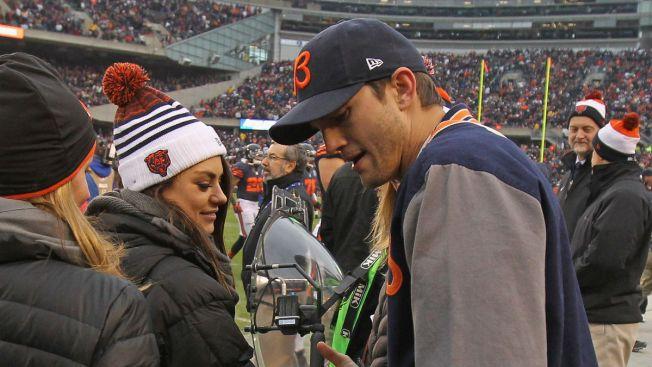 Chicago Bears Superfan Ashton Kutcher Ready for Hall of Fame Game