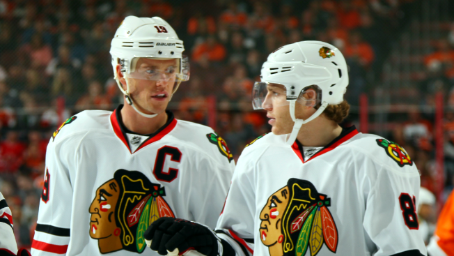 Jonathan Toews Loses Bet With Patrick Kane