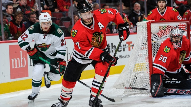 Blackhawks Drop Second Straight as Wild Triumph 2-1