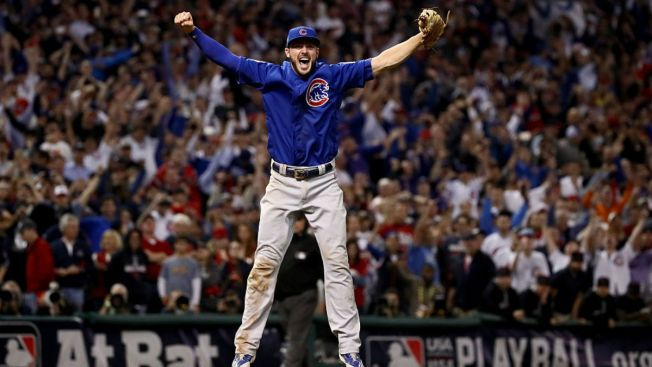 new style fe9fa 165c7 Kris Bryant Smiles as He Records Final Out in World Series ...