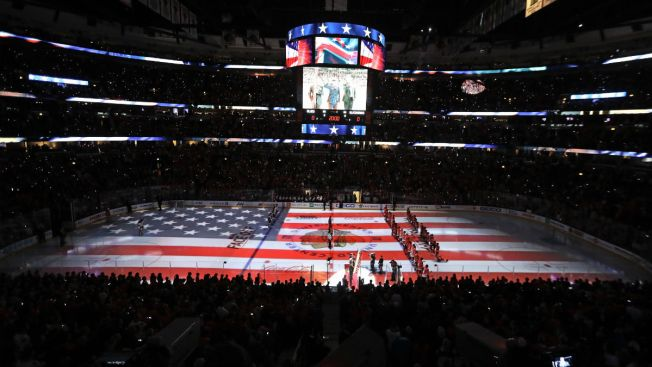 President Trump Tweets Video of Blackhawks, Blues During Anthem