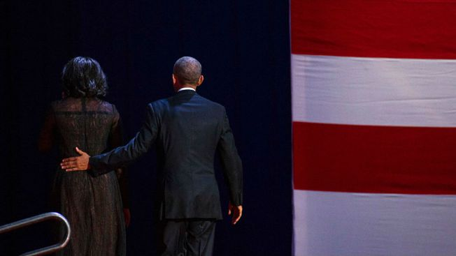 Michelle Obama Tweets Touching Message to Husband After Farewell Address
