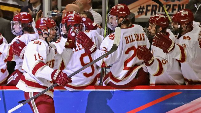Denver Throttles Notre Dame to Reach Frozen Four Title Game