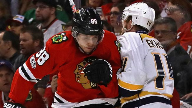 Kane, Blackhawks Look to Start Comeback vs. Predators Monday