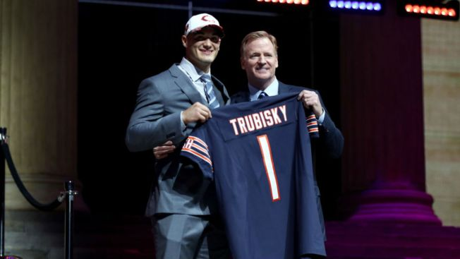 Mitchell Trubisky Nails Impressive Throw at Rookie Meeting