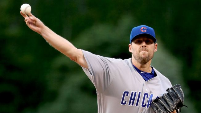 Cubs Pitcher John Lackey Makes History With Win vs. Rockies