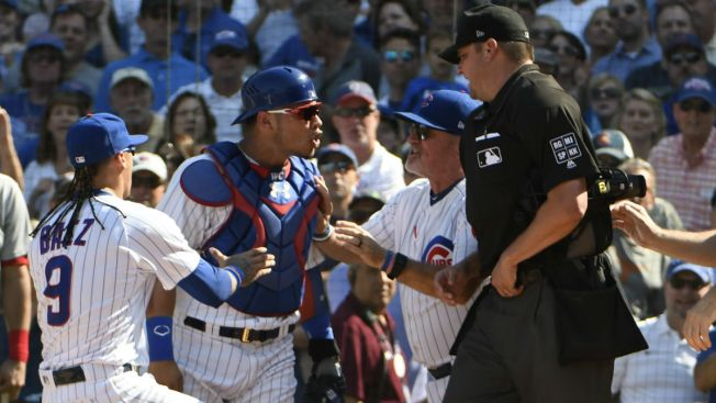 Lackey fined, Contreras suspended two games for Friday meltdown