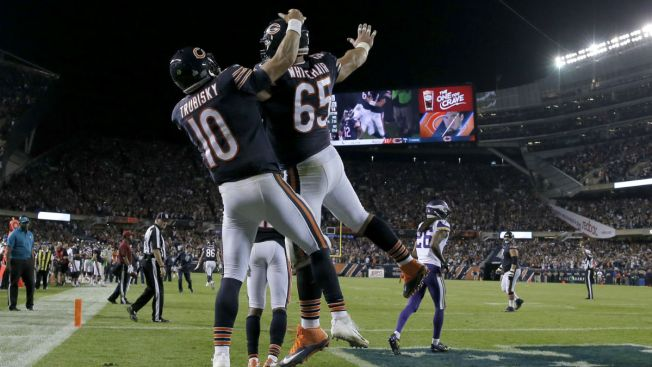 Trubisky Shows Promise Despite Late INT in Debut With Bears