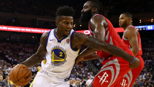 Jordan Bell (ankle) exits Warriors' game in wheelchair, undergoing X-rays