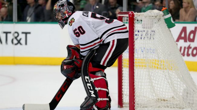 Corey Crawford Placed on Injured Reserve by Blackhawks