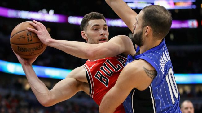 LaVine Steal, Dunk Lead Bulls to Win Over Magic