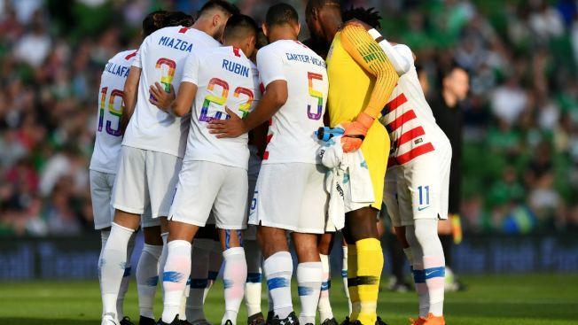 Team USA, Ireland Don 'Pride' Jerseys During Friendly Match