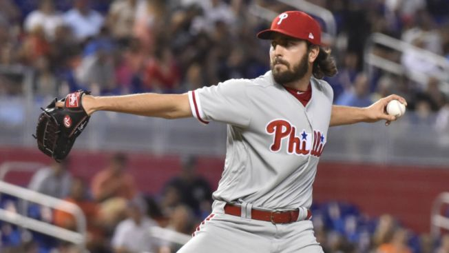 Phillies Pitcher Austin Davis Gets 'Cheat Sheet' Confiscated vs. Cubs