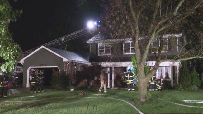 Family Unaware of House Fire After Lightning Strike