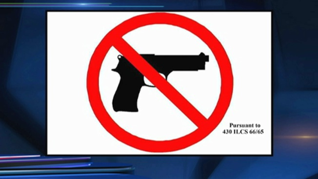 New Illinois Gun Ban Signs Unveiled
