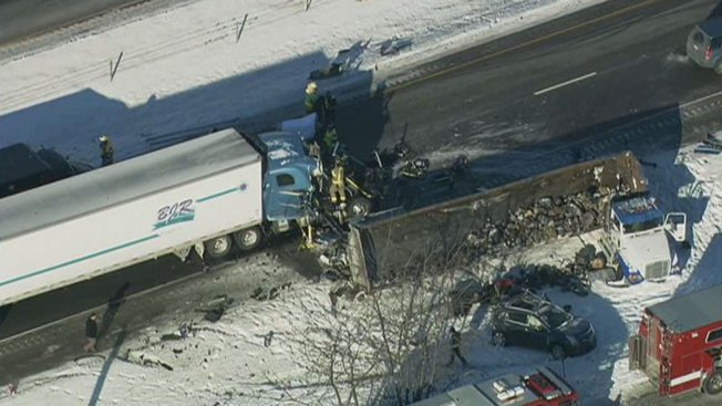 "NB I-55 Near Channahon Closed After ""Several"" Crashes"