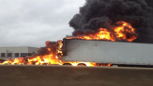 Truck Fire Shuts Down Southbound I-55