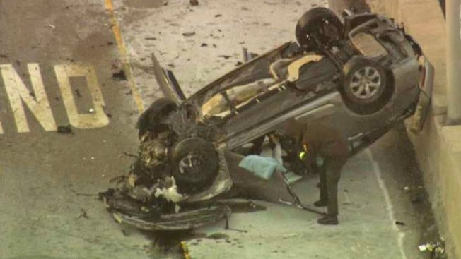 Lanes Blocked, 2 Injured in Dan Ryan Rollover Crash