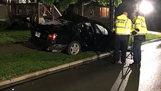 Man Dies After Car Slams Into Tree in Riverside - NBC Chicago