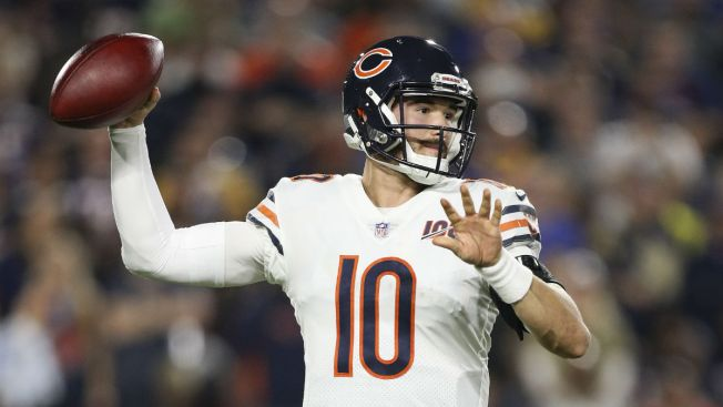 Mitchell Trubisky Pulled After Suffering Hip Injury, Matt Nagy Says