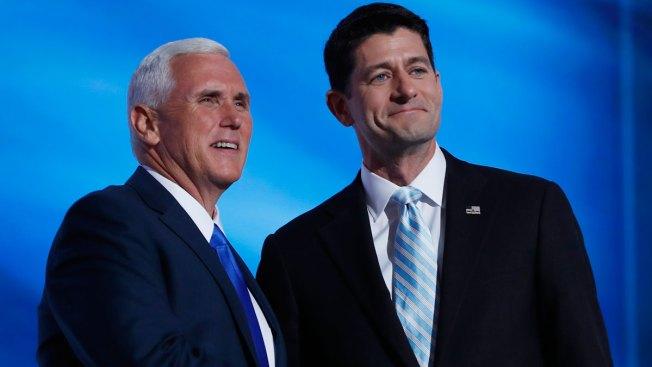 Mike Pence Backs Paul Ryan, Breaking With Donald Trump