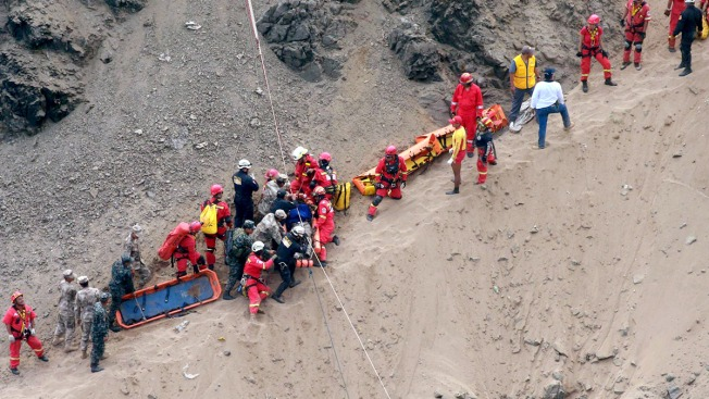 At Least 48 Dead After Bus Plunges Onto Rocky Beach in Peru