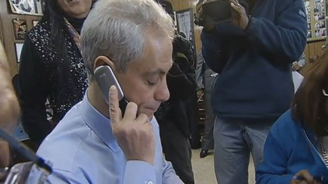 Emanuel Reiterates Promises to Veterans, Students on Election Day