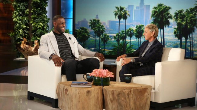 NBA Champ LeBron James Makes First In-Studio Appearance On 'Ellen'