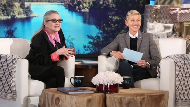 Carrie Fisher Talks Harrison Ford Affair on 'Ellen'