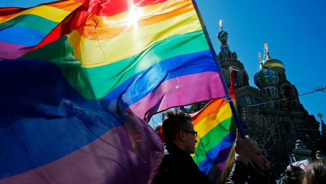 Demonstrators Commemorate Slain Russian LGBT Activist