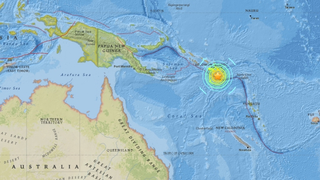 Risultati immagini per Tsunami warning after quake strikes Solomon Islands