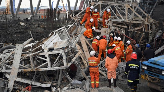 Death toll from E China construction site collapse rises to 74
