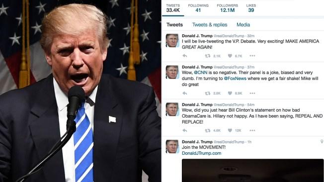 Vice Presidential Candidates Debate - and Trump Tweets