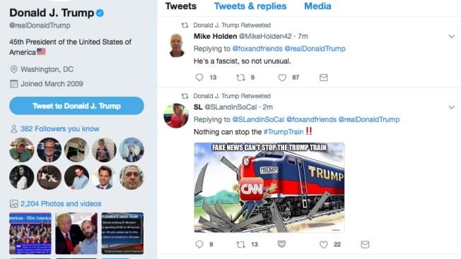 Trump Retweets User Calling Him a Fascist, New CNN Attack ...