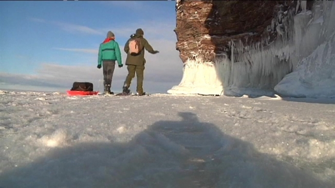 Freezing Temps Form Ice Caves in Wisconsin - NBC Chicago